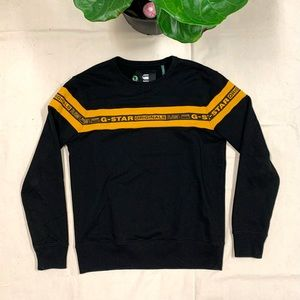 G-Star Raw Black and Yellow Crewneck Sweater NWT